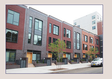 Navy green townhouses for Townhouse construction cost